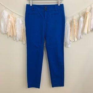 CARTONNIER ANTHRO Charlie Zip Ankle Pants Blue